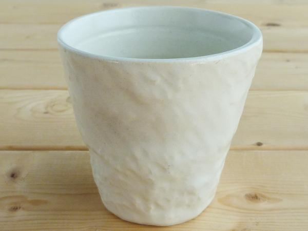 ぽこぽこ手触りのカップ 生産中止売切れ御免 美濃焼 アウトレット アイボリーぽこぽこカップ 径8cm高7.5cm オンライン限定商品 200ml cup in 4年保証 japan made bloom-plus