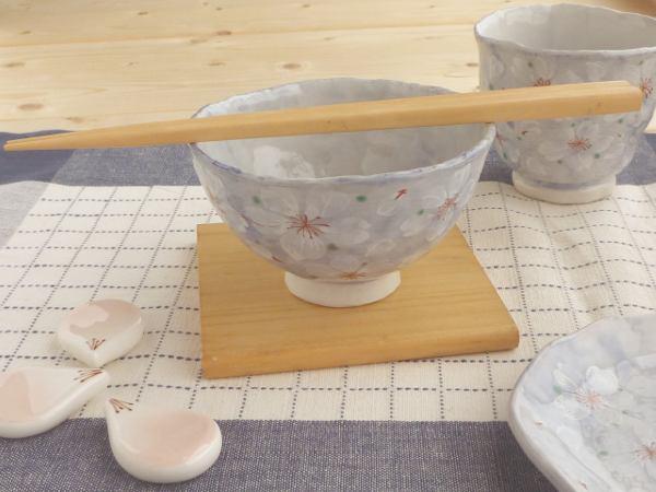 美濃焼 やよい花茶碗/ブルー