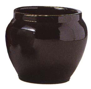 ブラックテラコッタ(信楽焼陶器鉢カバー)12号