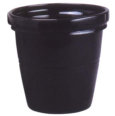 エタニティー E2タイプ(ブラック)10号(信楽焼陶器鉢カバー)