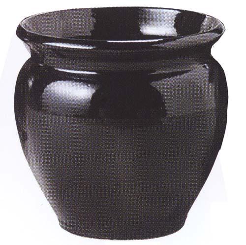 ジュネスブラック(J-5)10号(信楽焼陶器鉢カバー)