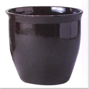 ブラックジュネス 10号(信楽焼陶器鉢カバー)
