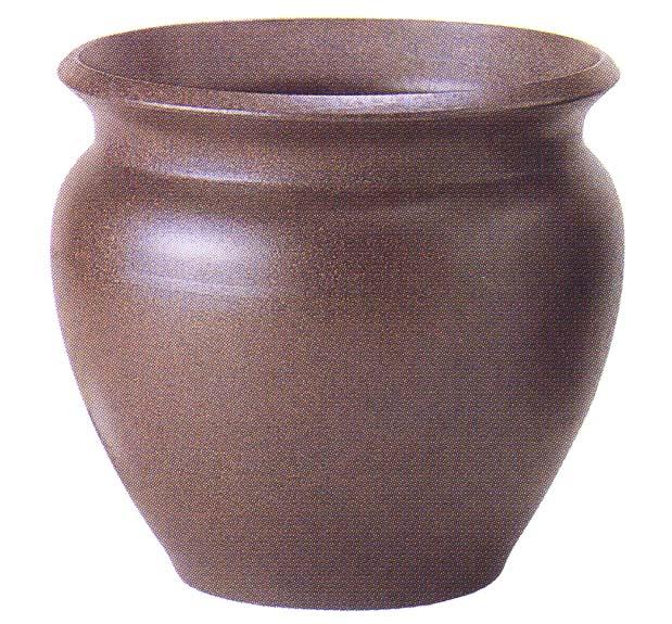 ダークブラウン 10号(信楽焼陶器鉢カバー)