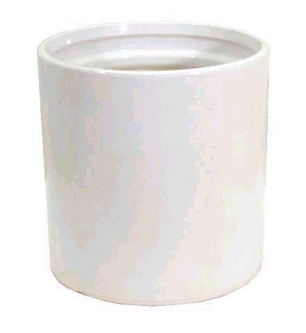ストレートホワイト8号(信楽焼陶器鉢カバー)