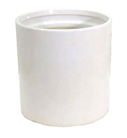 ストレートホワイト10号 (信楽焼陶器鉢カバー)