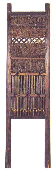 焼き丸太垣 2尺