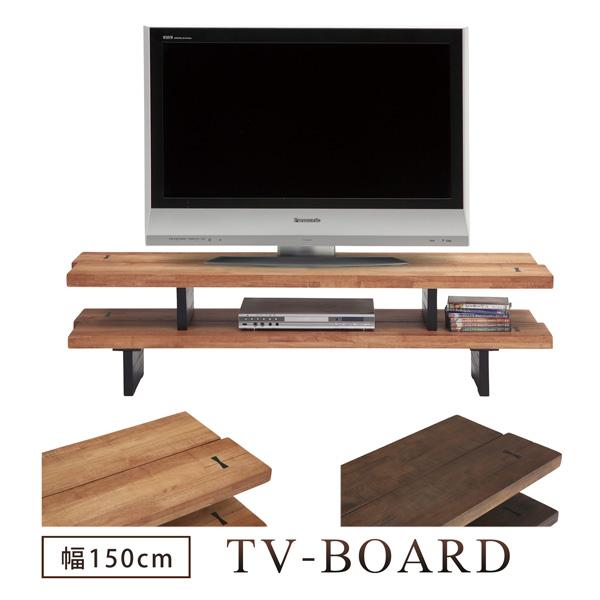 テレビボード TVボード テレビ台 幅150 木製 鋸目 和風 ブラウン ナチュラル