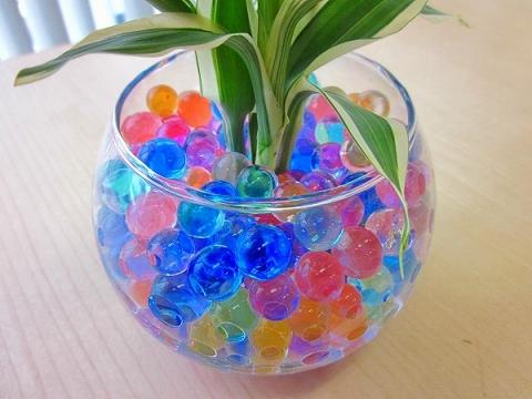 ハイドロカルチャー観葉植物 バブ12ゼリー 人気の水耕栽培ですカラフルでかわいいゼリーボールがきれいなグリーンを引き立てますお部屋のインテリアにどうぞブルーミンググレイス