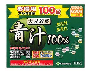 【送料・代引き手数料無料】 大麦若葉青汁100% 100g×30個  1ケース【正規品】