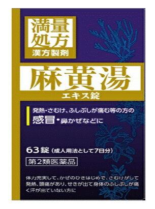 【第2類医薬品】【2個セット】JPS 麻黄湯エキス錠N 63錠×2個セット【正規品】 まおうとう