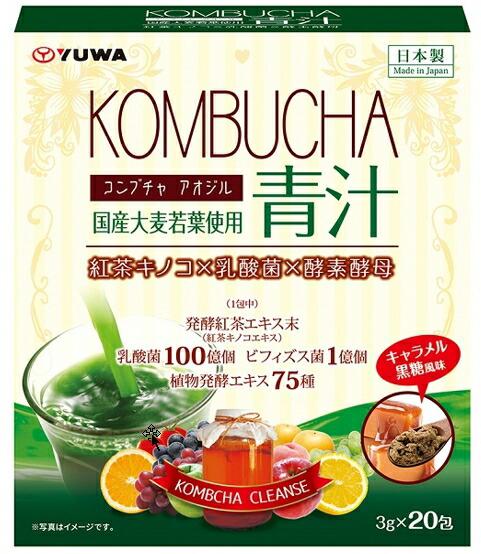 1ケース分 36個セット KOMBUCHA 青汁 ※軽減税率対応品 3g×20包 売店 正規品 コンブチャ×36個セット 人気の製品