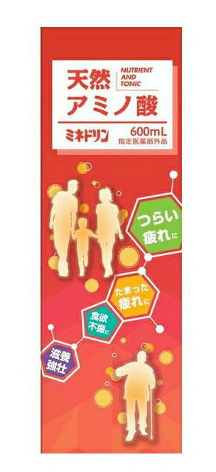 【5本セット】 天然アミノ酸 ミネドリン 600ML  ×5本セット NEWパッケージ【正規品】【医薬部外品】