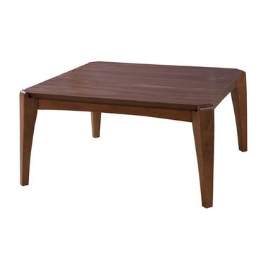 秀逸 脚部と幕板の曲線が美しく ウォルナットの深みのある風合いが上品な印象的なこたつテーブル 美しさだけでなく 機能性にもこだわりのあるデザイン こたつ 即出荷 テーブル こたつ本体 コタツ おしゃれ ブラウン シンプル 空調こたつ 木 木製 コタツテーブル 電気こたつ 座卓 オールシーズン