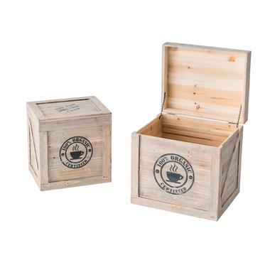 木製 フタ付き 収納 収納ボックス 雑貨 小物入れ 北欧 ボックス2個セット