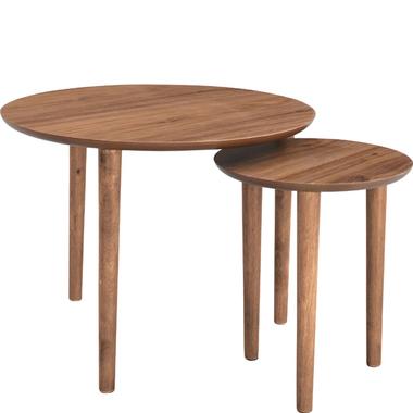 天然木 センターテーブル リビング トムテ ラウンドネストテーブル
