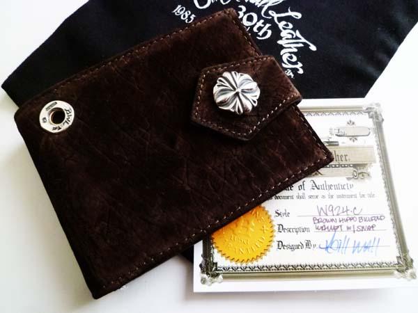 b2052f9ccc0e BWL ビルフォールドウォレット BillFold 二つ折り財布(ビルウォールレザー)w924 HIPPOカバ