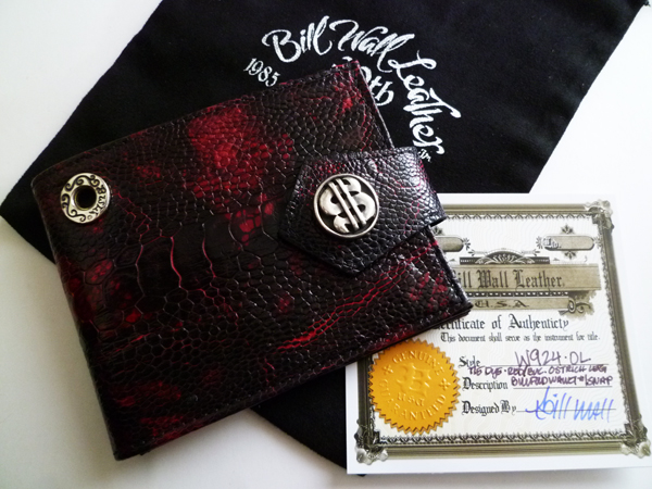 c037b0a24104 BWL ビルフォールドウォレット BillFold 二つ折り財布(ビルウォールレザー)w924 オーストリッチレッグ