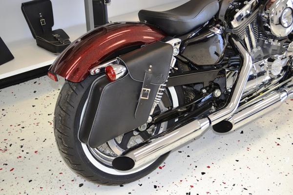 ハーレー 本革 右用 サドルバック スポーツスターダイナ Harley Davidson サイドバック