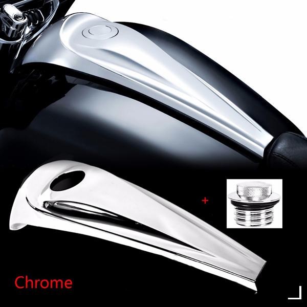 08以降 ツーリング用 スムースダッシュコンソールカバー ポップアップガスキャップ付き クローム FLHX FLHT FLHTR ロードキング Harley Davidson ハーレー