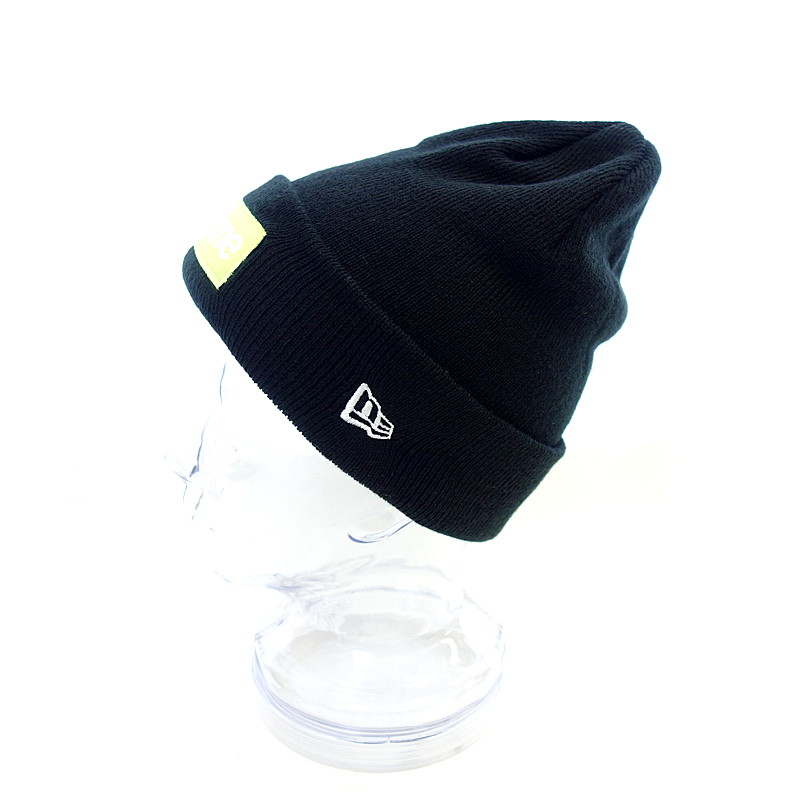d224a8e8fda Black X neon yellow rank A 103 61A18 which there is no シュプリーム  SUPREME 17AW New  Era Box Logo Beanie cap size men notation in
