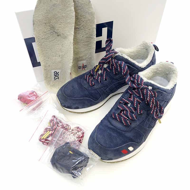 newest 01716 ab434 Monk rail /MONCLER 17AW KITH Asics GEL-Lyte III sneakers shoes size men  26CM navy X multi-rank C 102 11D18
