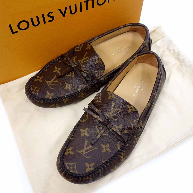 e5253aa09b8f 8 monogram Arizona line loafer driving shoes size men brown rank S 102  52D18 made in Louis Vuitton  LOUIS VUITTON 18SS Italy