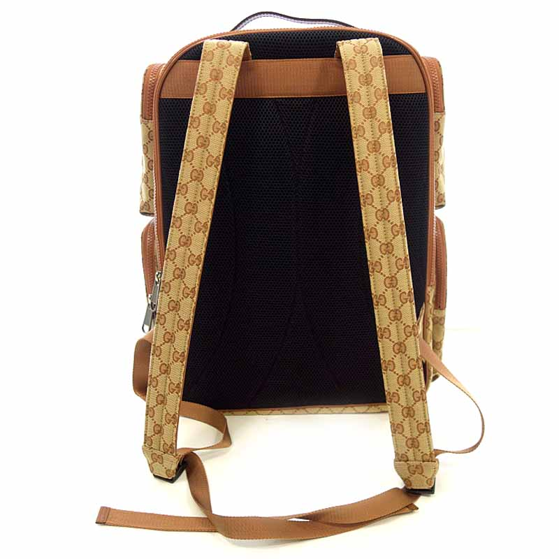 6399870ab38 Rank S 102 62B19 of Brown whom there is no Gucci  GUCCI 18AW LA Angels patch  large backpack rucksack size men notation in line