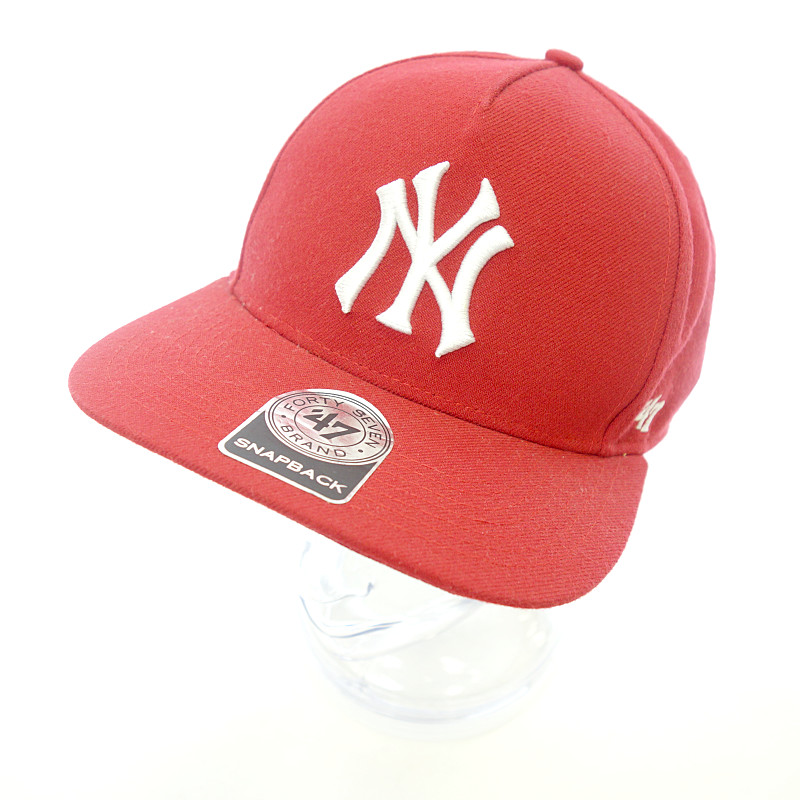 b5c94b55bcd シュプリーム  SUPREME NEW YORK YANKEES 47 BRAND 5-PANEL logo embroidery cap size  men ONE SIZE red rank A 103 22C19