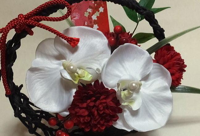 일본식의 링 베개화의 선물・화화〔아트 플라워〕축하의 꽃・어머니의 날・경로의 날〔일본식의 화〕・광촉매・CT촉매 결혼 축하・생일・연말 선물・나이시・설날 일본식의 링 베개・링 베개