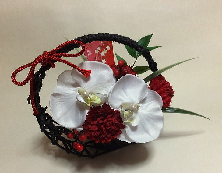 Japanese pillow Japanese gifts, Japanese flower [sakas] congratulations flowers, mother's day and grandparents day [Japanese-style flower]-Photocatalyst, CT catalyst wedding, birthday, gifts, and new year's holidays, celebrating Japanese ring pillow-ring