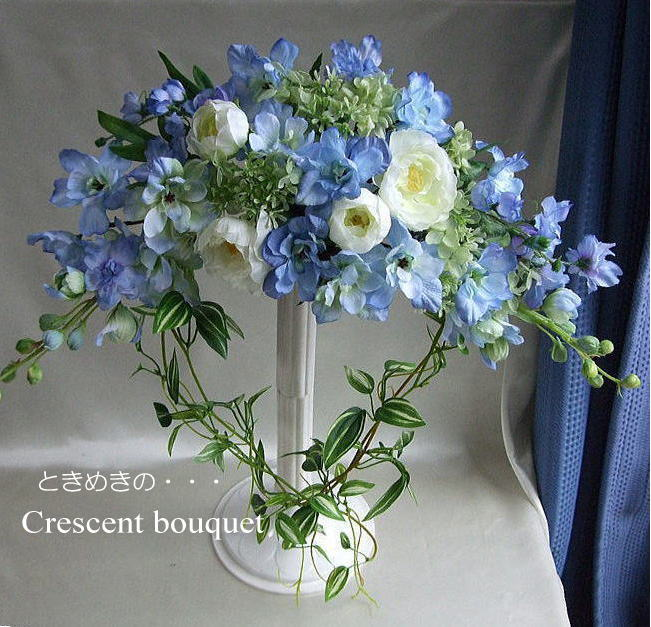 blue-candle   Rakuten Global Market: Something blue Crescent bouquet ...