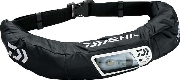 DAIWA DF-2207 ウォッシャブルライフジャケット(ウエストタイプ手動・自動膨脹式)ブラック