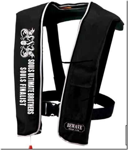 SOULS ライフジャケット肩掛け式(自動膨張式) ブラック