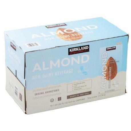 送料無料 カークランドシグネチャー 無糖 アーモンドミルク 上等 946ml x Almond Unsweetened Milk 12本 Signature 価格交渉OK送料無料
