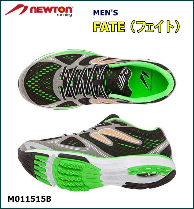 【送料無料!】 NEWTON(ニュートン)メンズ ランニングシューズ FATE (フェイト) Gray/Green(グレー×グリーン)[M011515B]