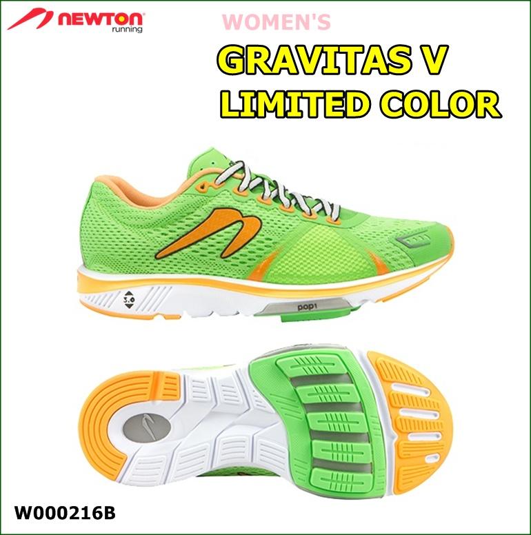 【送料無料!】 NEWTON(ニュートン)レディース ランニングシューズ GRAVITAS V LIMITED COLOR(グラビタス5 リミテッドカラー )グリーン (Green) [W000216B] ※返品・交換不可商品となります。