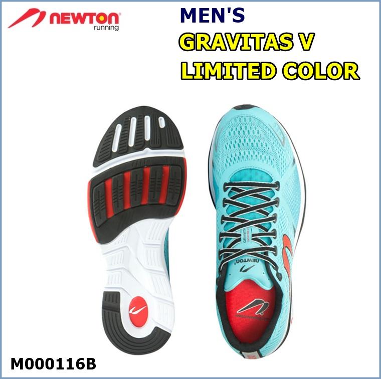 【送料無料!】 NEWTON(ニュートン)メンズ ランニングシューズ GRAVITAS V LIMITED COLOR(グラビタス5 リミテッドカラー ) ブルー (Blue) [M000116B] ※返品・交換不可商品となります。