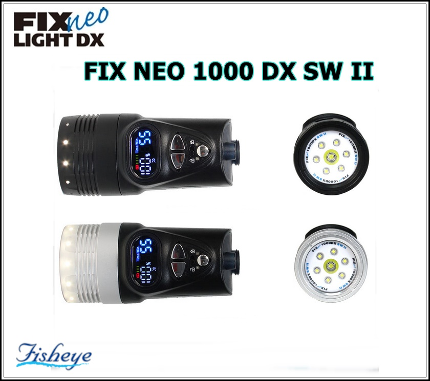 【送料無料!】Fisheye(フィッシュアイ) FIX NEO 1000 DX SW II ダイビング 水中ライト