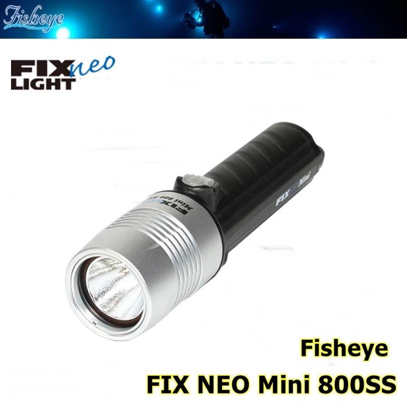 【全国送料無料!】Fisheye(フィッシュアイ) FIX NEO Mini 800SS ダイビング 水中ライト [30438] ※ご注文後のキャンセルはお断りしております。