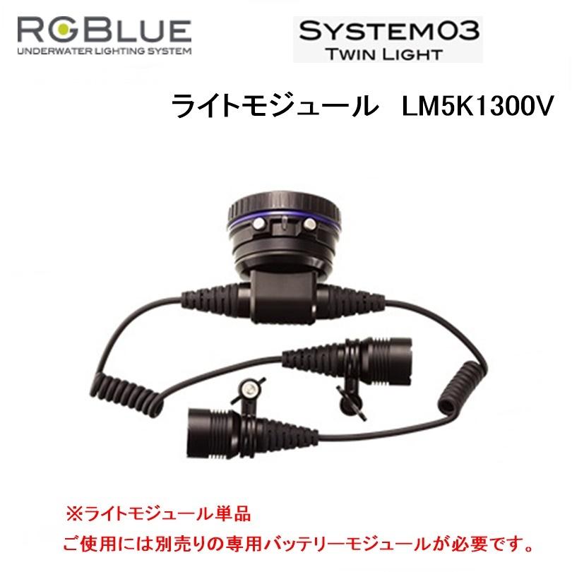 【送料無料!】RGBlue(アールジーブルー) ライトモジュール LM5K1300V(System03 ツインライト対応) 水中ライトパーツ アクセサリー