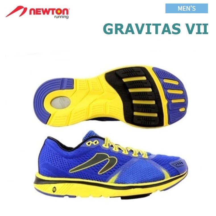【送料無料!】NEWTON(ニュートン)メンズ ランニングシューズ GRAVITAS 7(グラビタス7)RoyalBlue/Yellow (ロイヤルブルー×イエロー) [M000118B] ※返品・交換不可商品となります。
