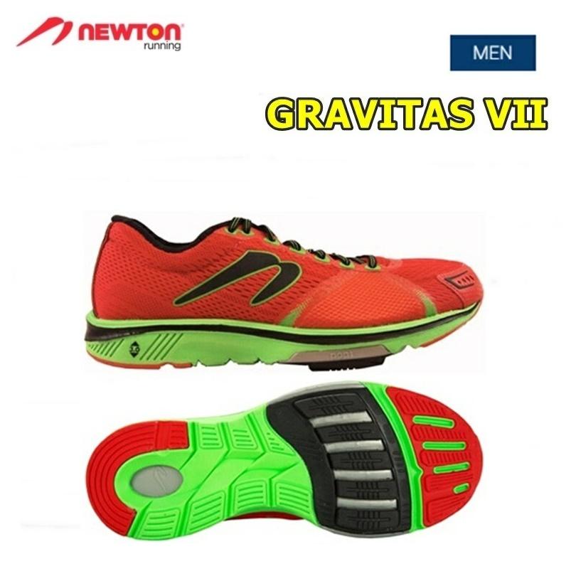 【送料無料!】 NEWTON(ニュートン)メンズ ランニングシューズ GRAVITAS 7(グラビタス7)Red/Lime (レッド×ライム) [M000118] ※返品・交換不可商品となります。