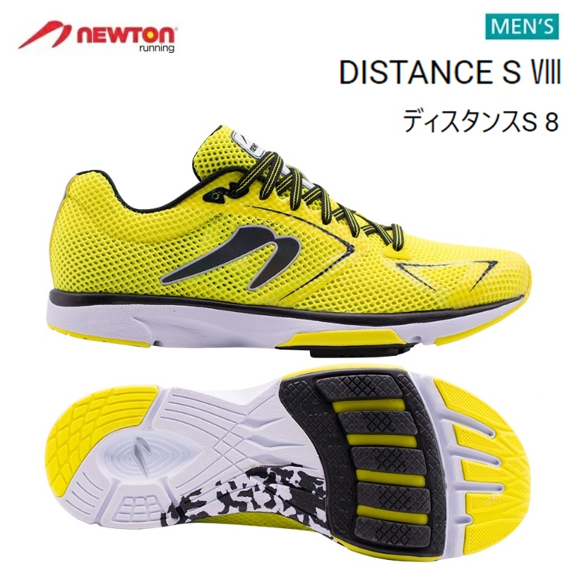 【送料無料!】 NEWTON(ニュートン)メンズ ランニングシューズ DISTANCE S 8(ディスタンスS8)Yellow/Black (イエロー×ブラック) [M000719] ※返品・交換不可商品となります。