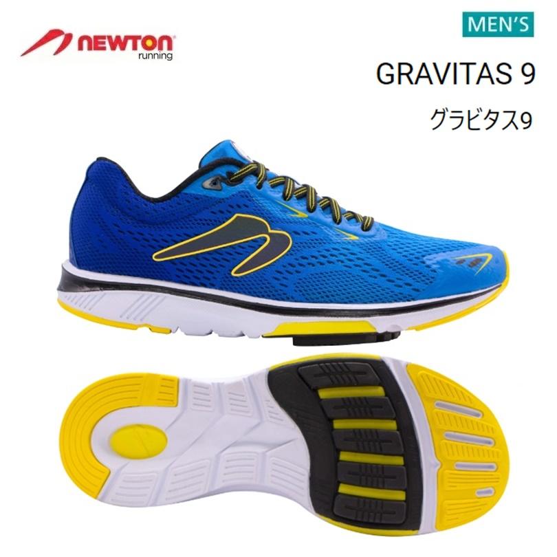 【送料無料!】 NEWTON(ニュートン)メンズ ランニングシューズ GRAVITAS 9(グラビタス9)Navy/Citron (ネイビー×シトロン) [M000120] ※返品・交換不可商品となります。