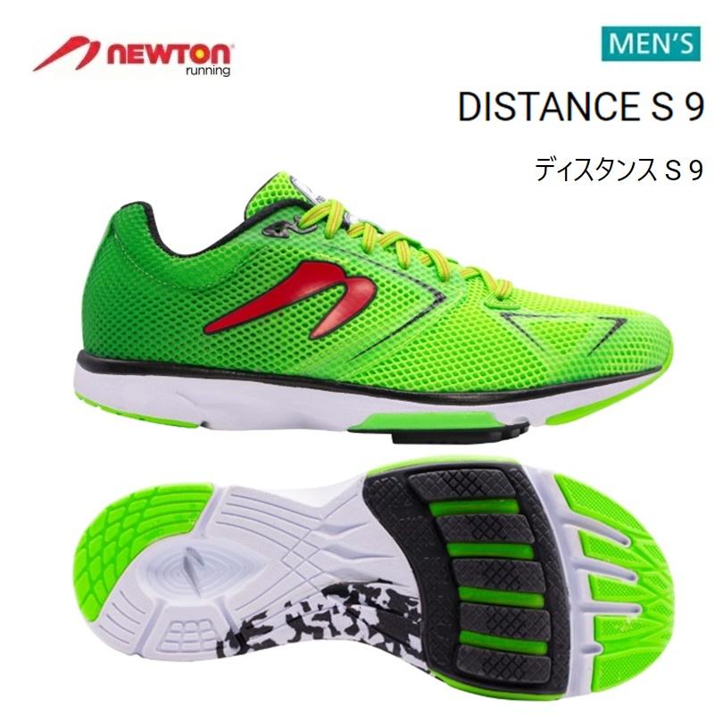 【送料無料!】 NEWTON(ニュートン)メンズ ランニングシューズ DISTANCE S 9(ディスタンス S 9)Emerald/Red (エメラルド×レッド) [M000720] ※返品・交換不可商品となります。