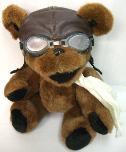 【ビーンベア】[old12inch]アビエーター[パイロット]約30センチのクマのぬいぐるみ