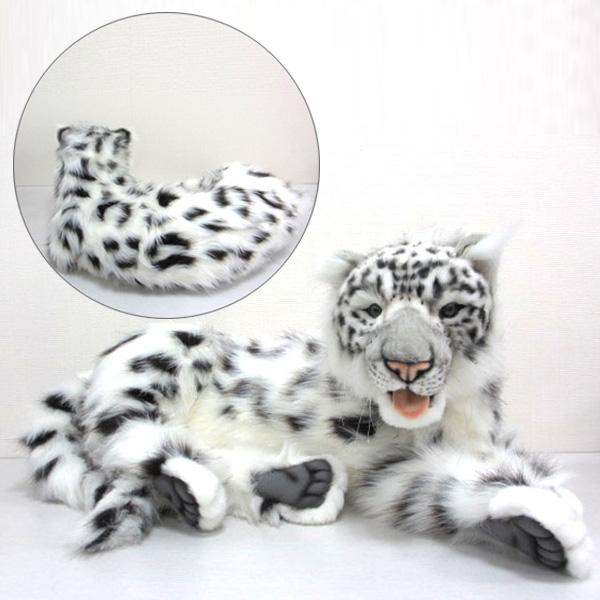 [ハンサ][6999]ユキヒョウ-SNOW LEOPARD JACQUARD LAYING-動物 ぬいぐるみ 豹 ひょう