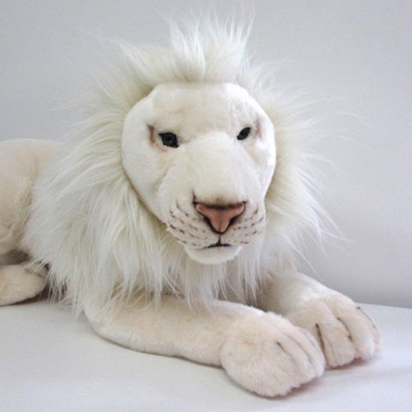 【送料無料】ハンサ【ホワイトライオン 65】[6364]hansa ホワイトライオン 白いライオンhansa HANSA リアルな動物のぬいぐるみ※離島・一部地域・海外は別途中継料が発生致します