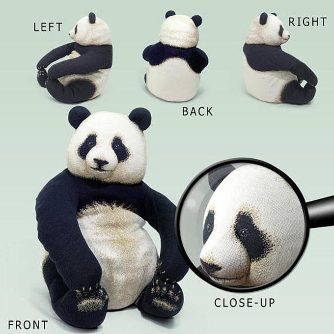 いたずらなパンダの赤ちゃんクッションChic Sin Design チックシンデザインまったりクマクッションメーカーの新商品※沖縄・海外・離島は別途中継料ご案内です【0422】