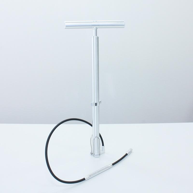 【自転車周辺グッズ】自転車 空気入れ フロアポンプ 仏式/米式 折りたたみ式 アルミ製 エアゲージ搭載 高圧200 PSI (13.9 BAR)対応 【あす楽対応_関東】